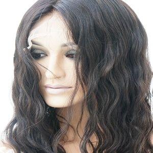 SILK TOP HUMAN HAIR WAVY FULL LACE WIG